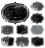 ベクトル苦しめられたフレーム セット — ストックベクタ