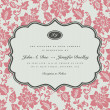 Vector Rose Background and Ornate Frame — Stock Vector