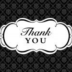 Vector Ornate Thank You Frame — Stock Vector