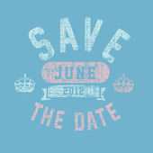 Vector Distressed Save the Date Background — Stockvector