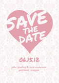 Vector Save the Date Background — Stock Vector
