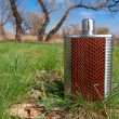 Stainless hip flask — Stockfoto