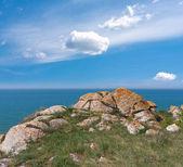 Stare kamienie w pobliżu brzegu morza — Zdjęcie stockowe