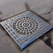 Stock Photo: Manhole on road