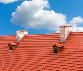 Red tile roof — Stock Photo