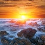 Sunset over sea — Stock Photo #8888693