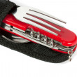 Red multipurpose Swiss army knife — Stock Photo