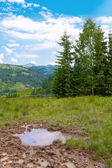 Nach regen in bergen — Stockfoto