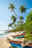 Ongerepte tropisch strand — Stockfoto
