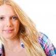 Portrait of young beautiful blond — Stock Photo #8753403
