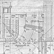 Vintage fragment of a construction plan — Stock Photo