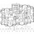 Floor architectural construction plan — 图库照片