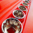 Different nozzles in a tool kit — Stock Photo #9332164