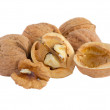Stock Photo: Walnuts and cracked walnut