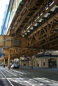 Chicago Elevated Train — Stock Photo