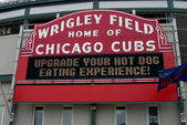 Wrigley Field Sign - Chicago Cubs — Stock Photo