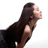 Profile of sexy beautiful young woman — Stock Photo