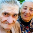 Old couple - two happy seniors — Stock Photo