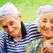 Two seniors in love — Stock Photo