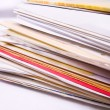 Stock Photo: Stack of messy document folders