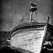 Royalty-Free Stock Photo: Vintage image of wreck old boat