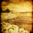 Vintage seascape - Stock Photo