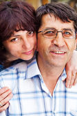 Family happy couple - husband and wife — Stock Photo