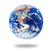 Planet Earth isolated on white — Stock Photo