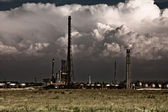 Pollution concept - industrial toxic refinery — Stock Photo