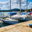 Stock Photo: Yachts in Tsarevo port, Bulgaria