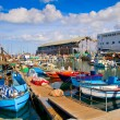 Lots of boats in picturesque port of Tel Aviv - Stock Photo