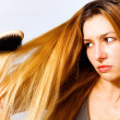 Stock Photo: Woman with hair problem