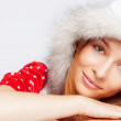 Christmas portrait of beautiful young woman — Stock Photo #9921767