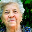 Smile of an old woman — Stock Photo