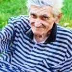Smile of one senior old man — Stock Photo #9922162
