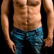 Torso of muscular man with nice abdomen — Foto Stock