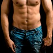 Torso of muscular man with nice abdomen — Stock Photo