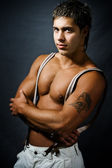 Muscular fashionable sexy handsome man — Stock Photo