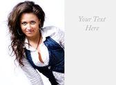 美しい女性の広告 — ストック写真