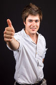Young handsome man showing ok sign — Stock Photo