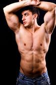 Sexy muscular man with fit body — Stock Photo