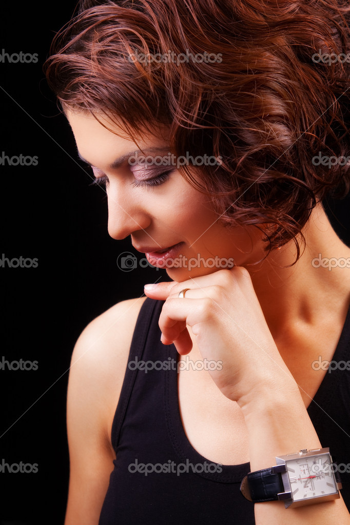 Face of sensual graceful woman — Stock Photo #9921364