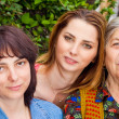 Family - daughter granddaughter and grandmother — Stock Photo #9932478