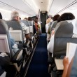 Interior of airplane with inside — Stock Photo #9932594
