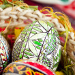 Royalty-Free Stock Photo: Easter painted eggs in traditional basket