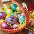 Royalty-Free Stock Photo: Easter painted eggs in a basket