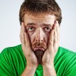 Sad unhappy bored depressed man — Stock Photo #9933202