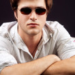 Handsome young man with sunglasses — Stock Photo #9933282