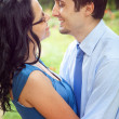 Royalty-Free Stock Photo: Joyful couple sharing a romantic intimate moment