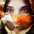 Foto Stock: Eyes of beautiful mystery sensual woman